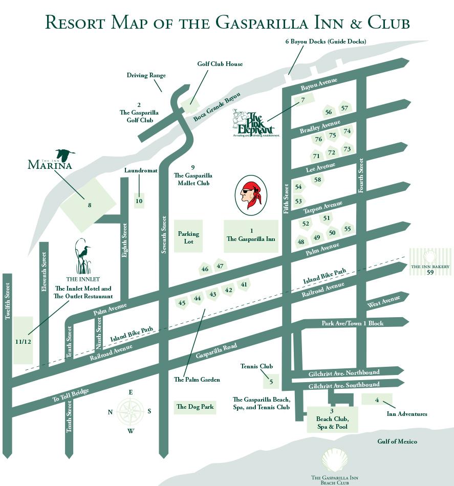The Gasparilla Inn Property Map