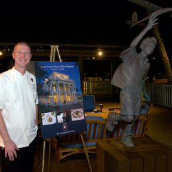Chef Smiling with Gasparilla Poster