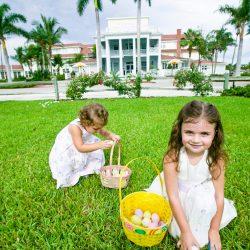 Kids Finding Easter Eggs