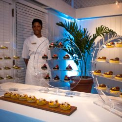 Chef with Food Display