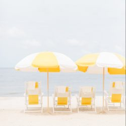 Beach Chairs Facing the Ocean