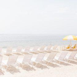 Beach Chairs Facing the Ocean