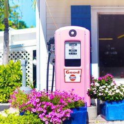 Old Pink Gas Pump